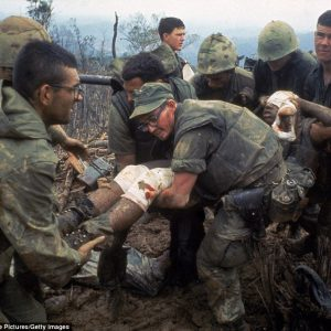 Sgt Tom Brown USMC helicopter support team leader this was Oct 5 1966 Operation Prairie on Mutter Ridge South of the DMZ